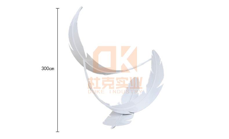不锈钢羽毛雕塑