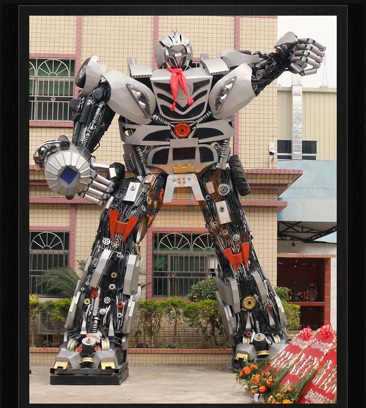 不锈钢变形金刚机器人雕塑