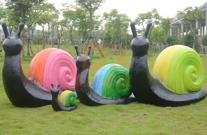 玻璃钢仿真蜗牛摆件,景观雕塑摆件!