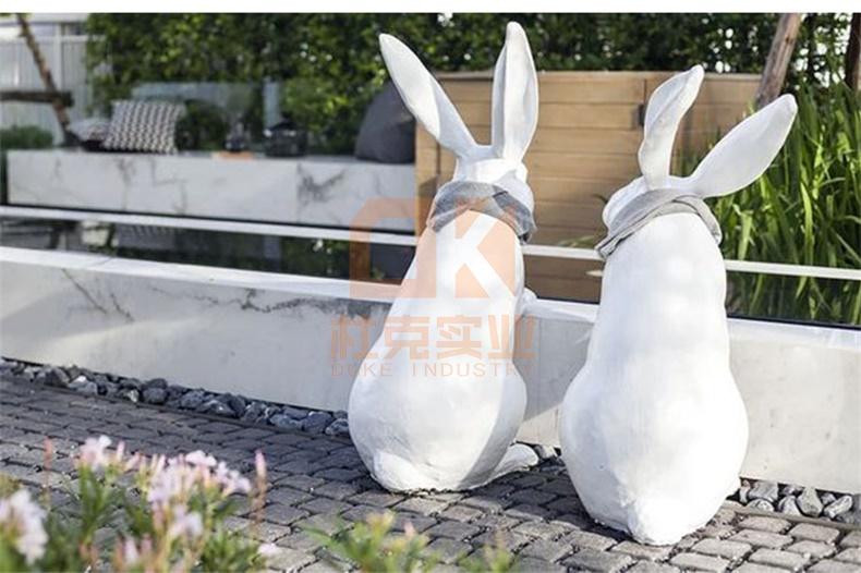 玻璃钢兔子动物造型雕塑