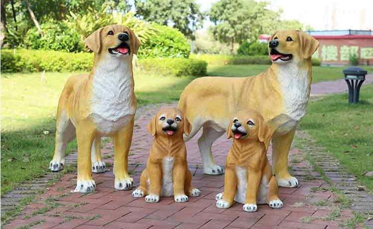 玻璃钢小狗雕塑,狗狗是人类忠诚的伙伴!