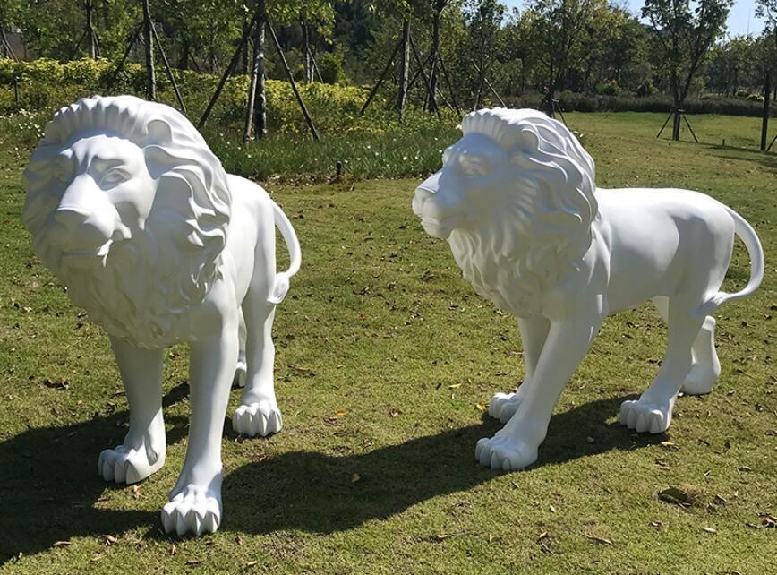 仿真狮子玻璃钢雕塑,威武霸气的狮子来了!