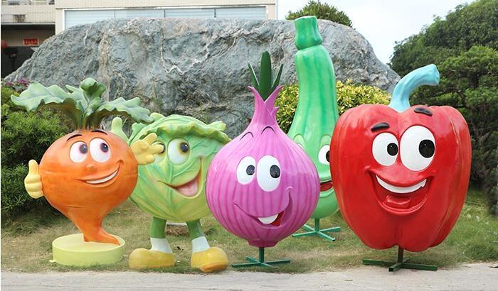 玻璃钢水果蔬菜雕塑摆件,缔造自然美景!