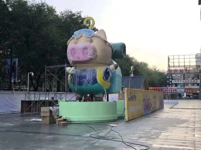河南洛阳麦兜DP点美陈雕塑定制案例