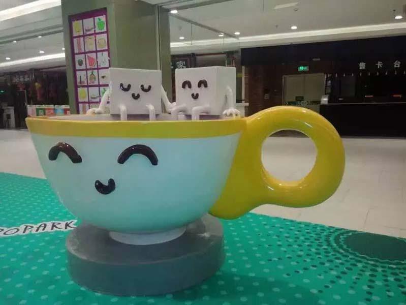 POPARK餐饮美陈玻璃钢雕塑案例