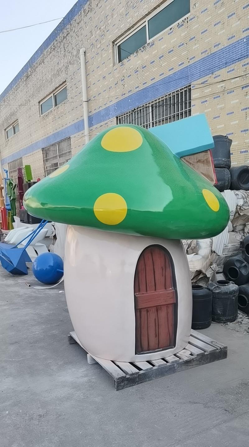 玻璃钢蘑菇屋,蘑菇屋造型为什么都采用玻璃钢制作!