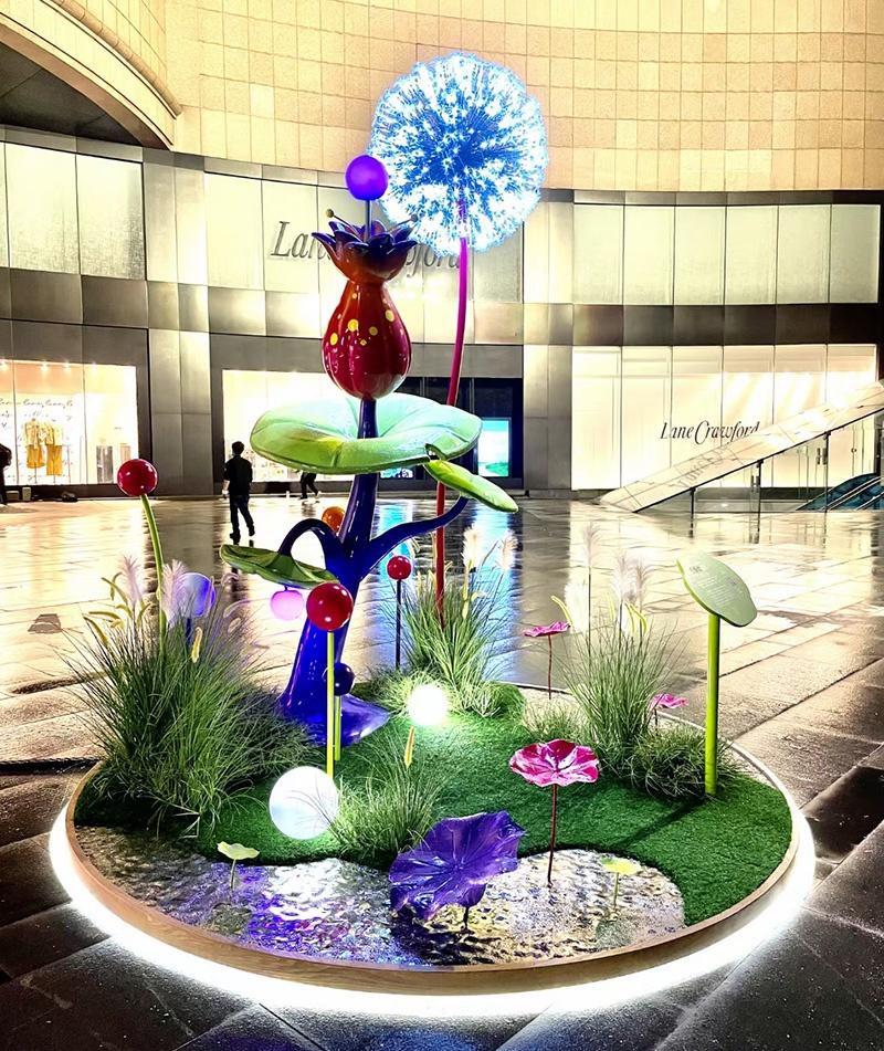 玻璃钢雕塑美陈DP点,玻璃钢生产厂家制作!