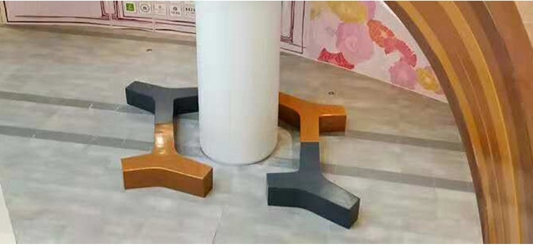 玻璃钢户外异形创意Y字拼接坐凳