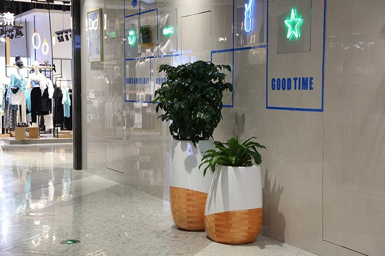 商场购物中心玻璃钢创意花盆