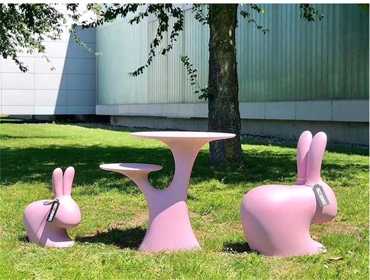 玻璃钢兔子休闲座椅