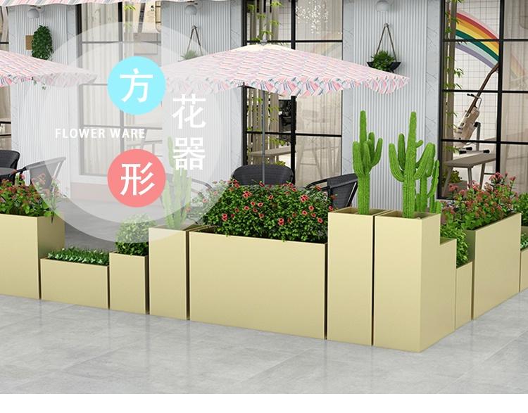 玻璃钢长方形花盆市政街道花箱
