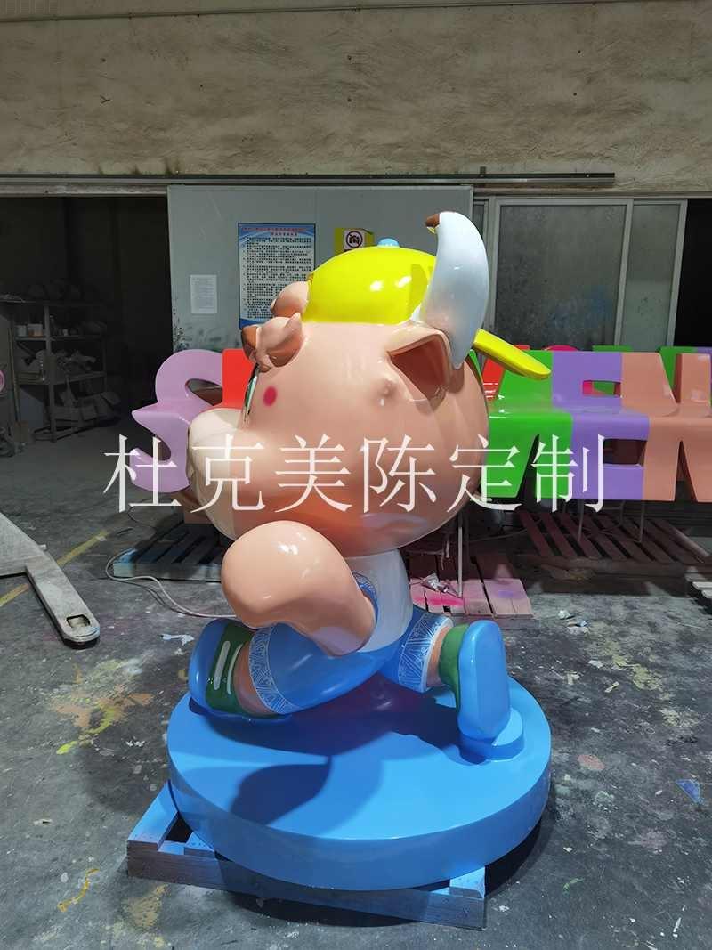 玻璃钢卡通牛雕塑创意动物景观摆件